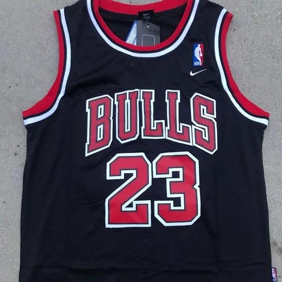 best sneakers 7044f ca130 Michael Jordan Chicago bulls black jersey NWT